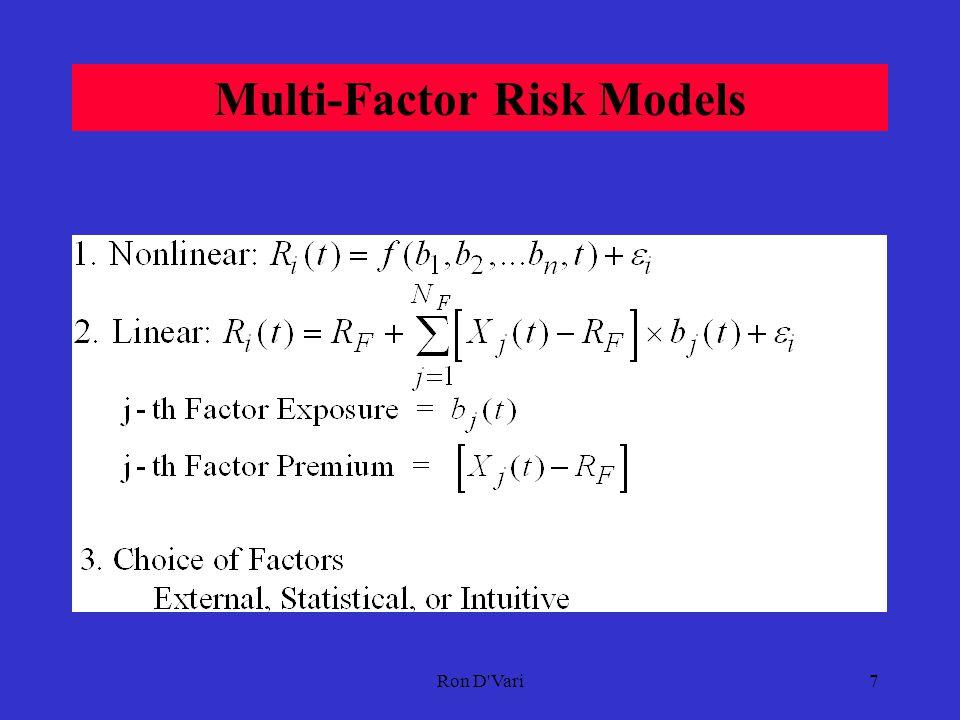 Ron D Vari6 Elementary Risk Models