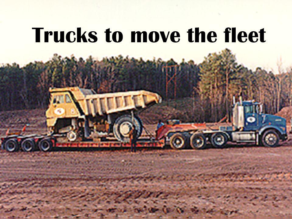 Trucks to move the fleet