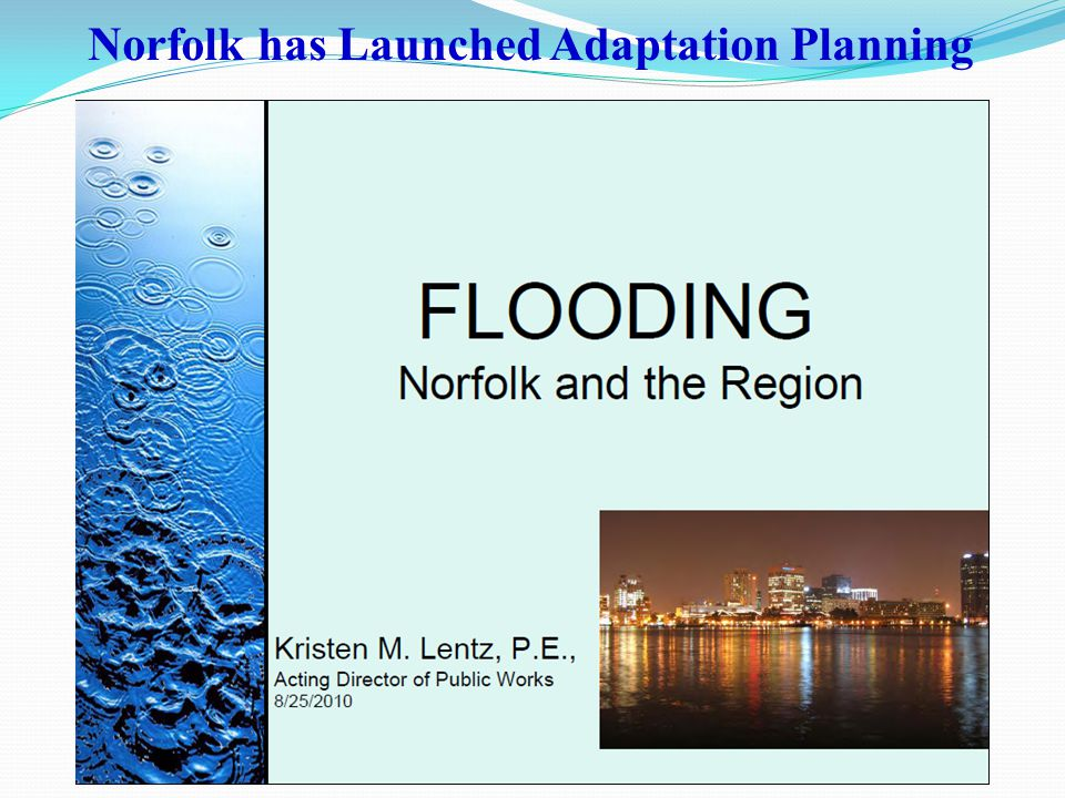 Norfolk has Launched Adaptation Planning