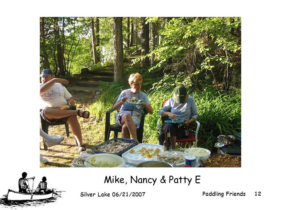 Silver Lake 06/21/2007 Paddling Friends12 Mike, Nancy & Patty E
