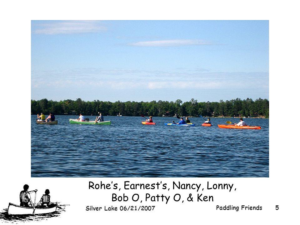 Silver Lake 06/21/2007 Paddling Friends5 Rohe's, Earnest's, Nancy, Lonny, Bob O, Patty O, & Ken