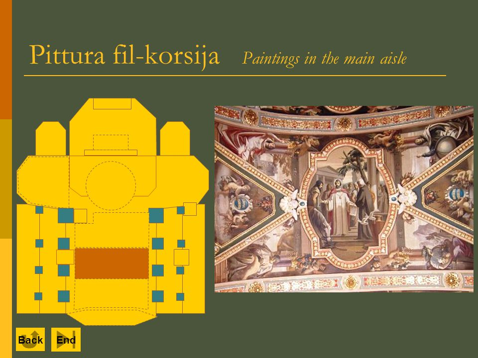 Pittura fil-korsija Paintings in the main aisle Back End