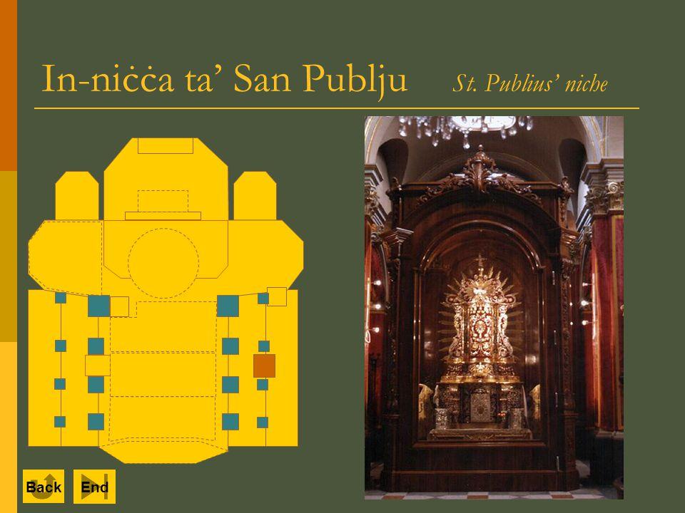 In-niċċa ta' San Publju St. Publius' niche Back End