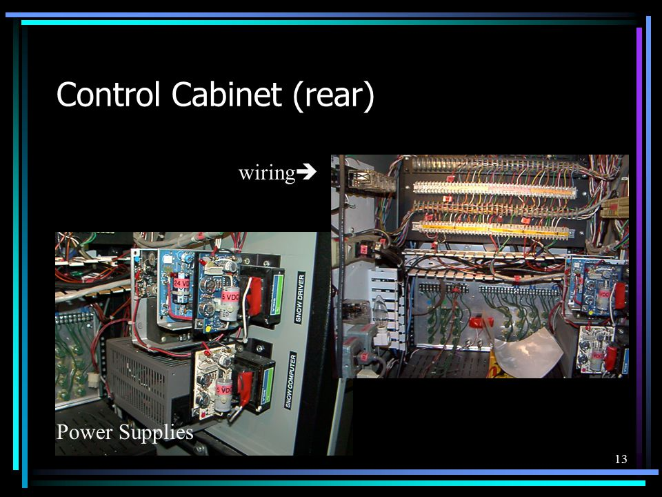 13 Control Cabinet (rear) wiring  Power Supplies