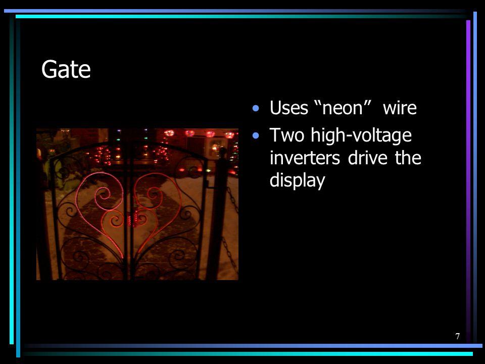 8 Nativity 2/3 scale 300 lights Neon wire 2 motors