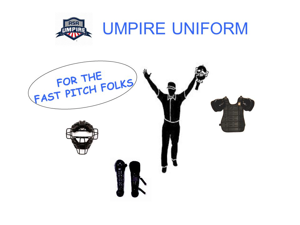 UMPIRE UNIFORM FOR THE FAST PITCH FOLKS