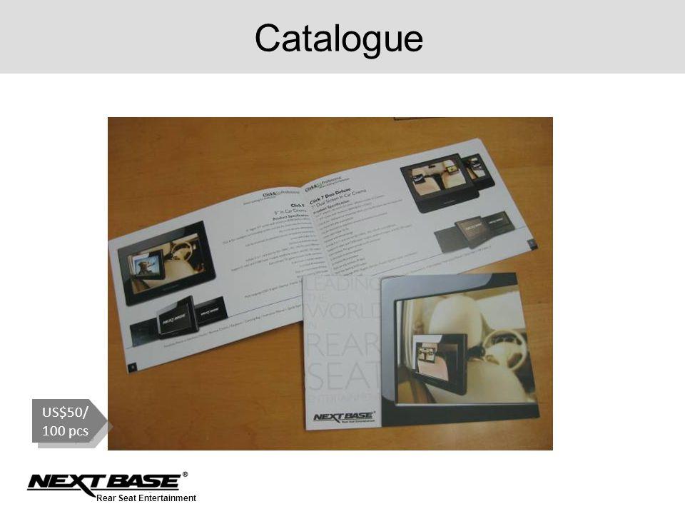Rear Seat Entertainment Catalogue US$50/ 100 pcs