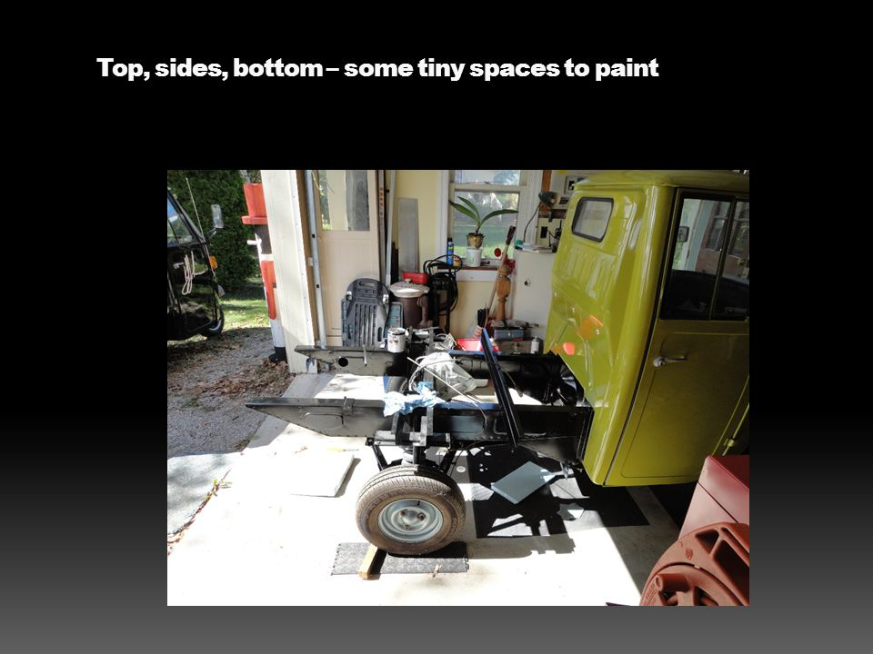 Top, sides, bottom – some tiny spaces to paint