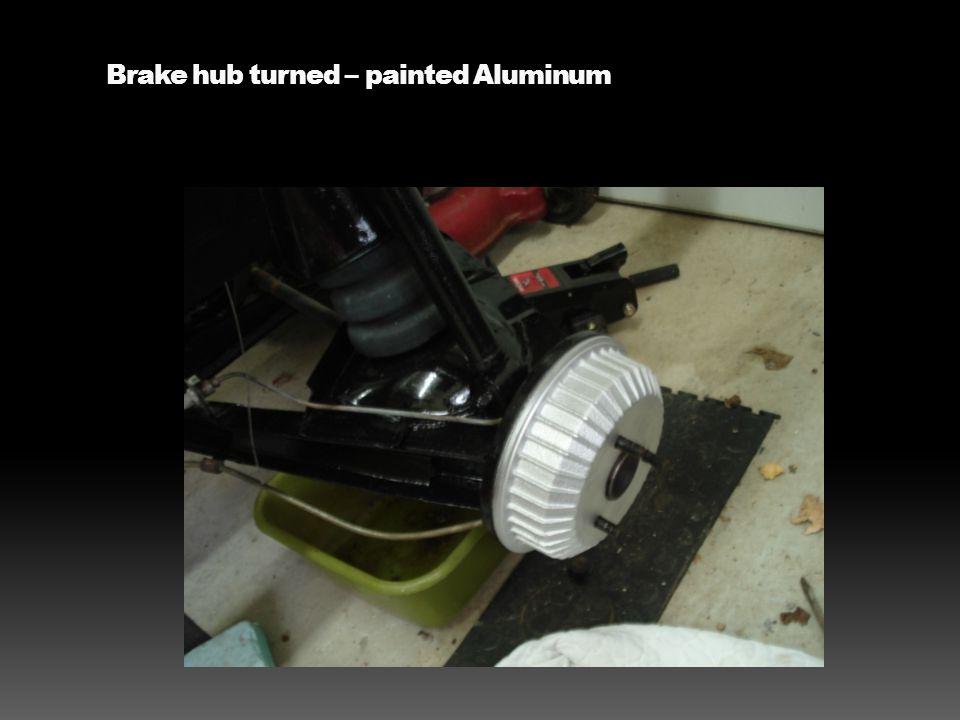 Brake hub turned – painted Aluminum