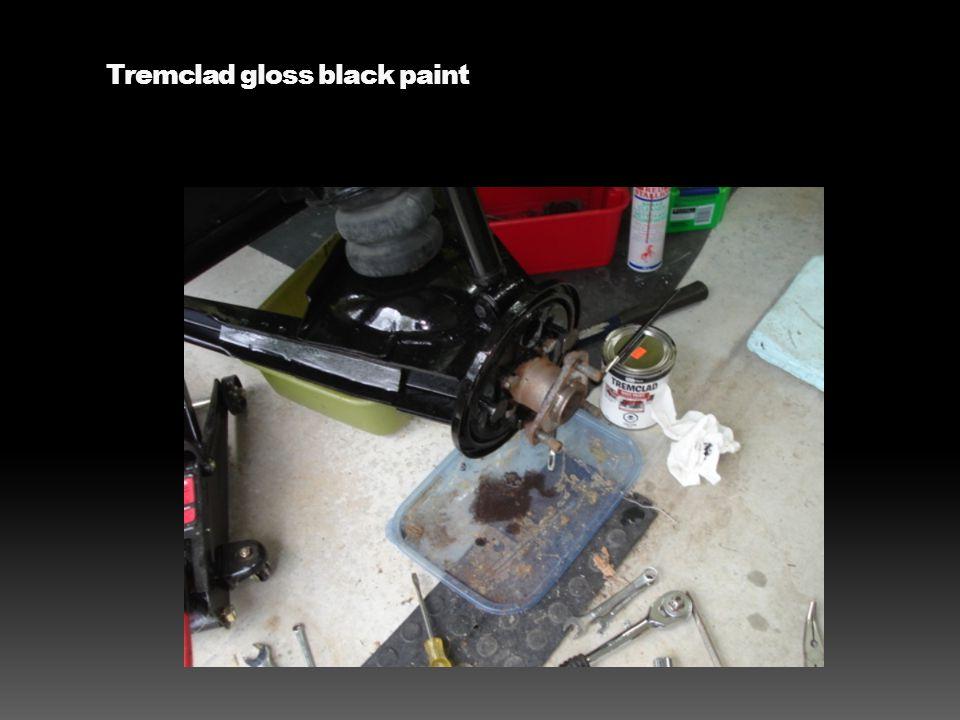 Tremclad gloss black paint