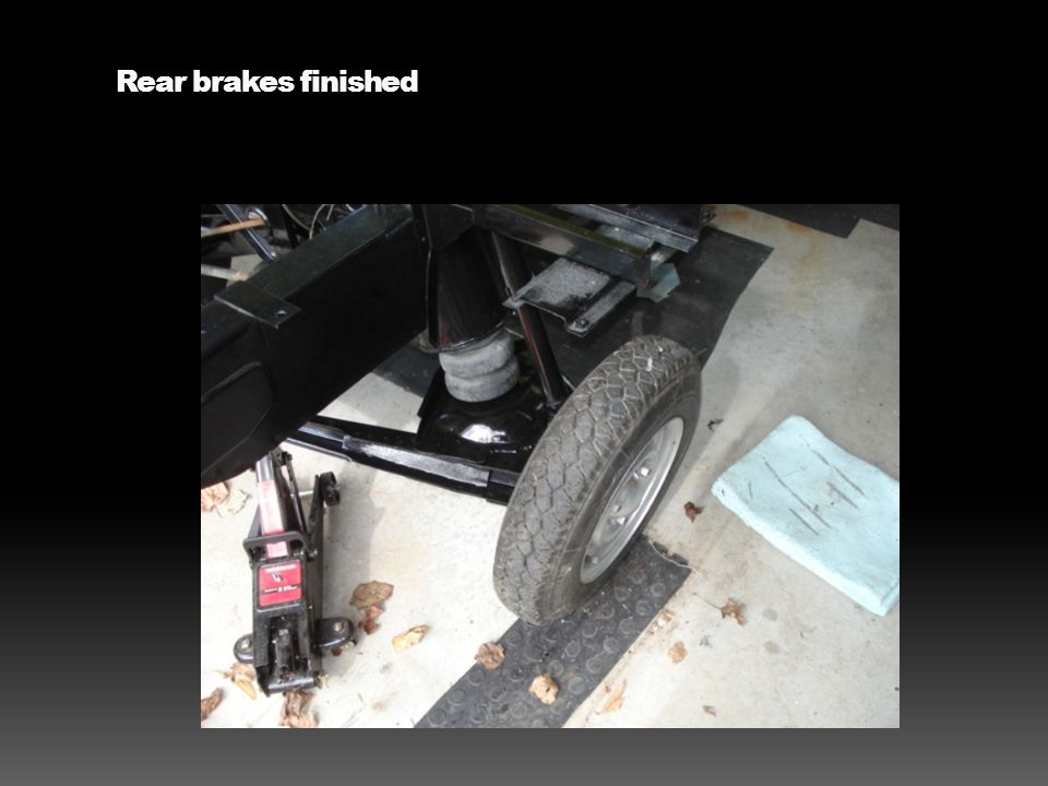 Rear brakes finished