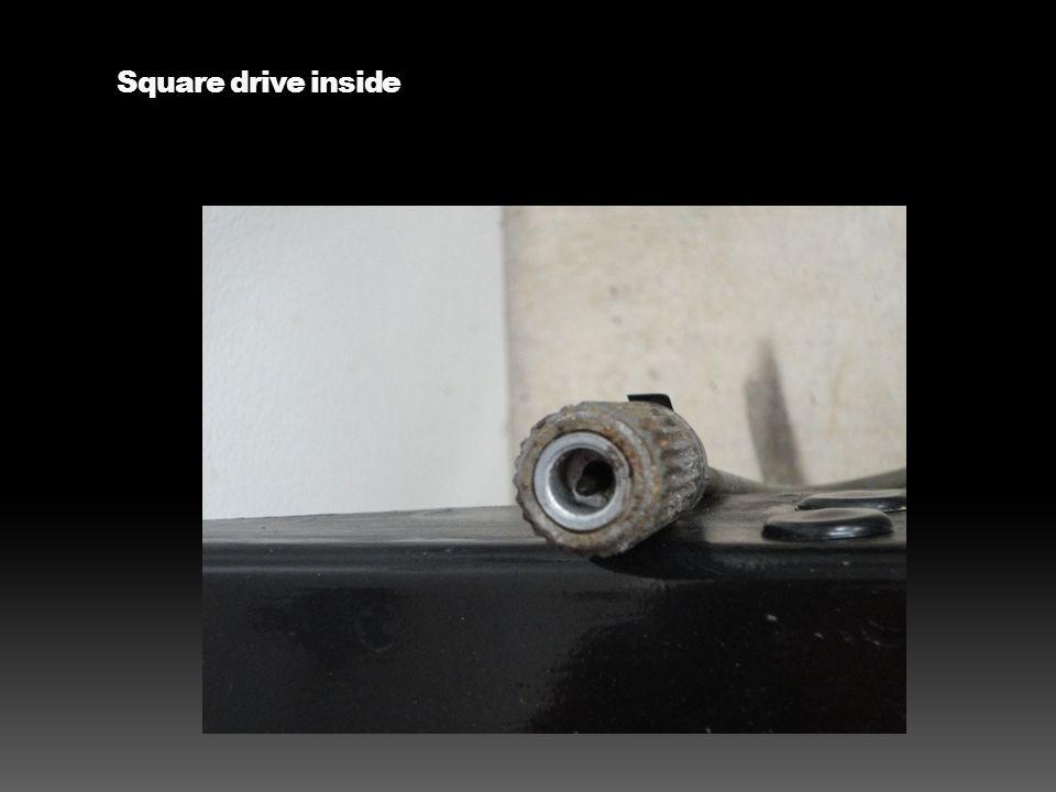 Square drive inside
