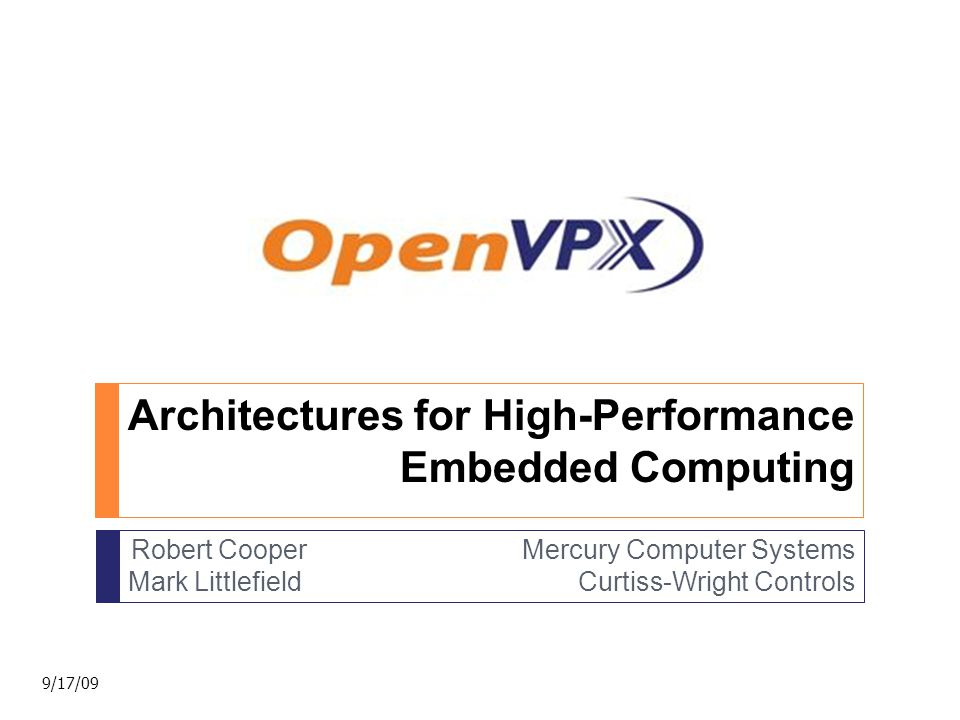OpenVPX Specification  Planes  Pipes  Profiles 12