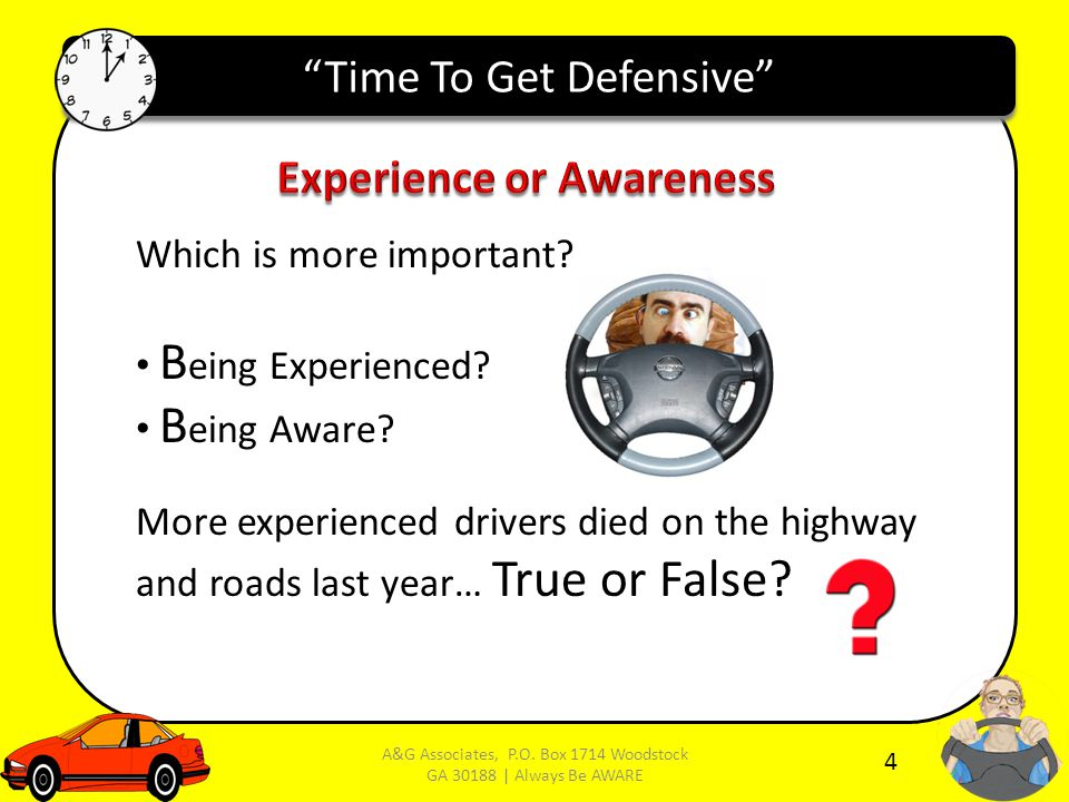 Time To Get Defensive Which is more important. B eing Experienced.