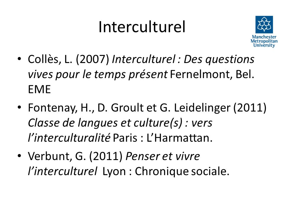 Interculturel Collès, L.