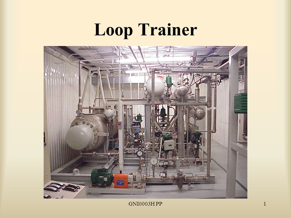 GNI0003H PP2 Reason for Study Because the Loop Trainer gives instructors the capability to control water flow, pressure and temperature, it can be used to simulate almost any scenario in real time.