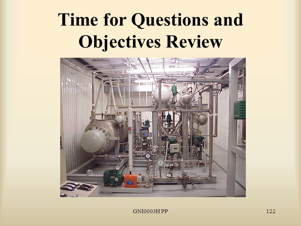 GNI0003H PP122 Time for Questions and Objectives Review