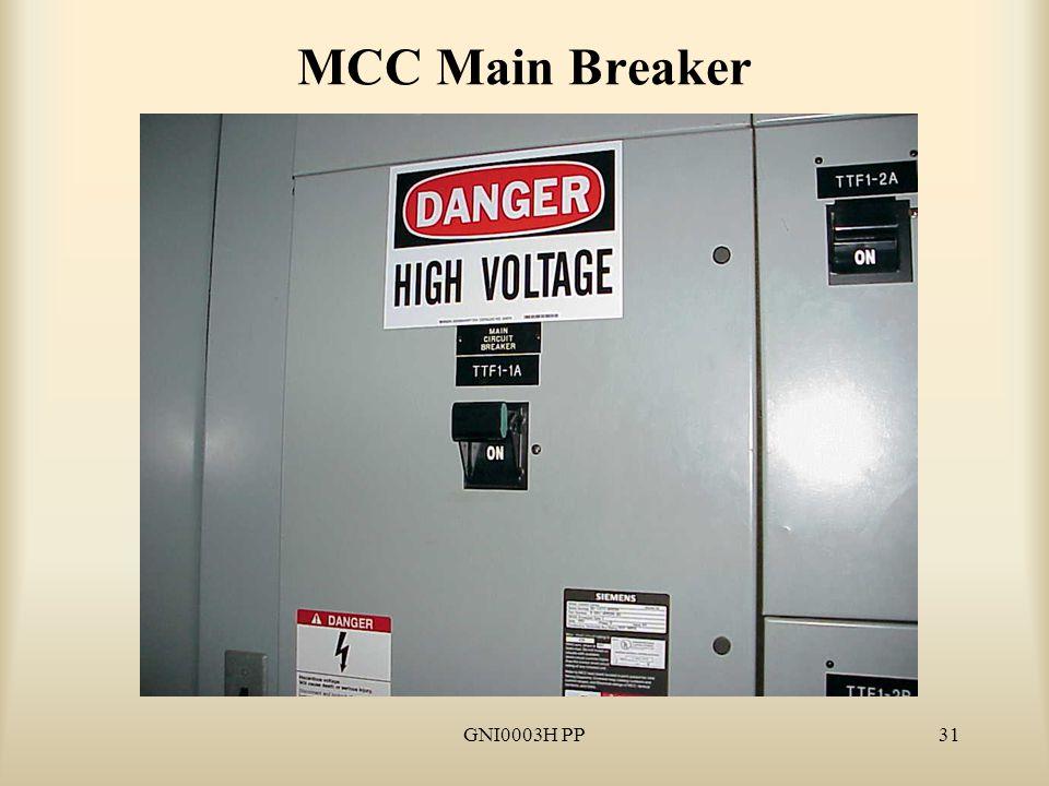 GNI0003H PP31 MCC Main Breaker