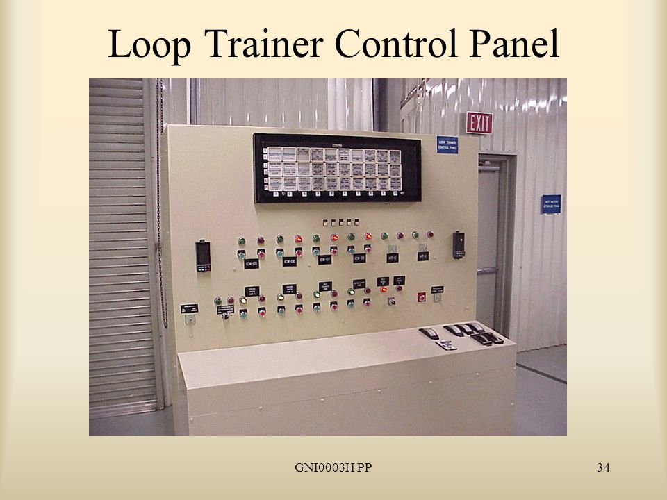 GNI0003H PP34 Loop Trainer Control Panel