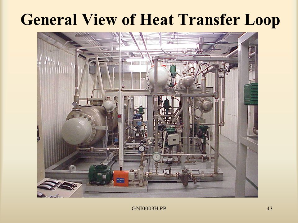 GNI0003H PP43 General View of Heat Transfer Loop