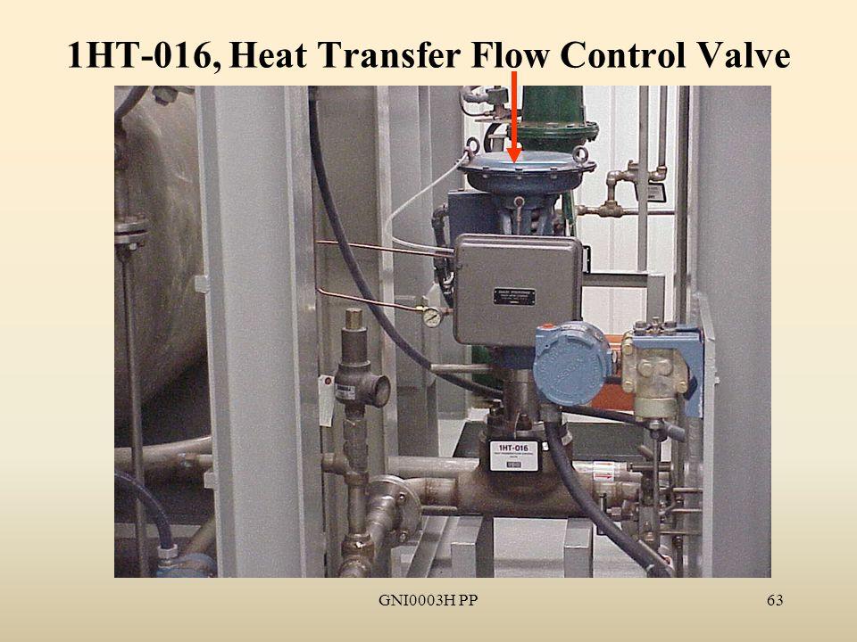 GNI0003H PP63 1HT-016, Heat Transfer Flow Control Valve