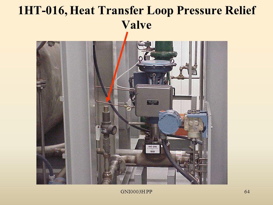 GNI0003H PP64 1HT-016, Heat Transfer Loop Pressure Relief Valve