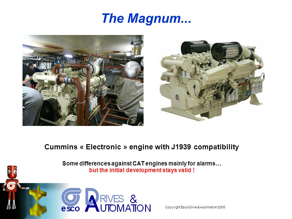Copyright Esco-Drive & Automation 2008 ONE of the first projects :... The Magnum...