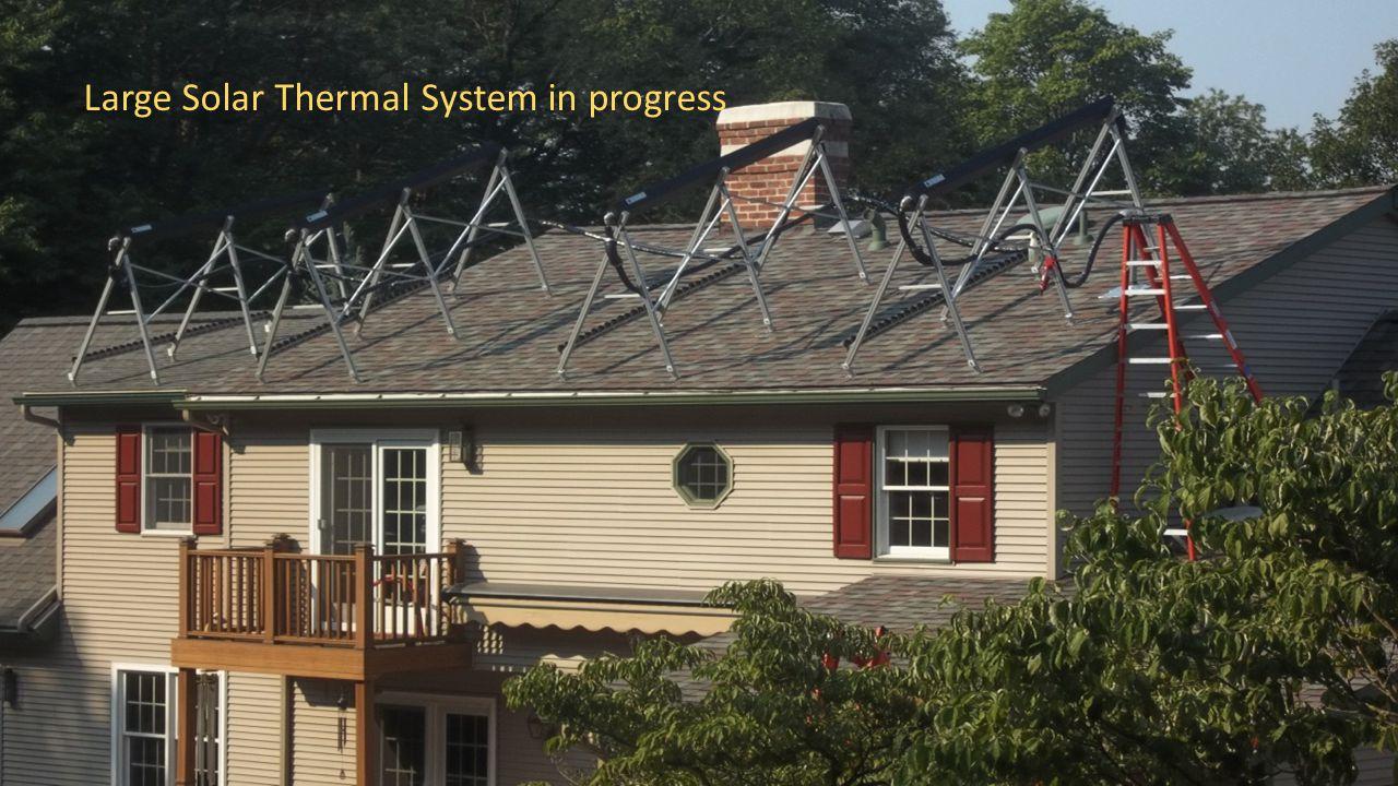 Large Solar Thermal System in progress