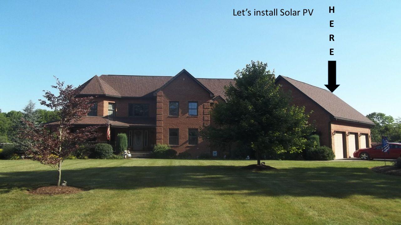 Let's install Solar PV