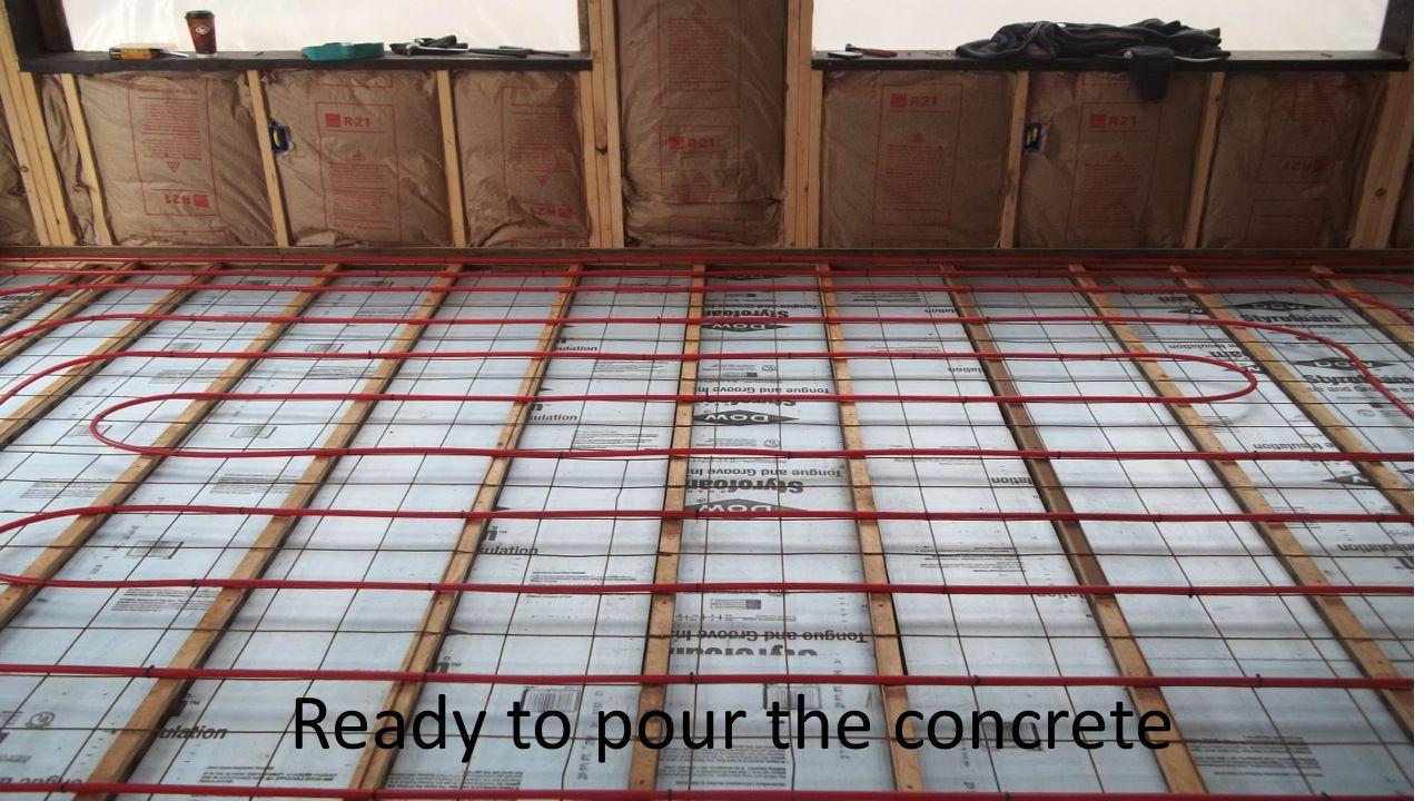 Ready to pour the concrete