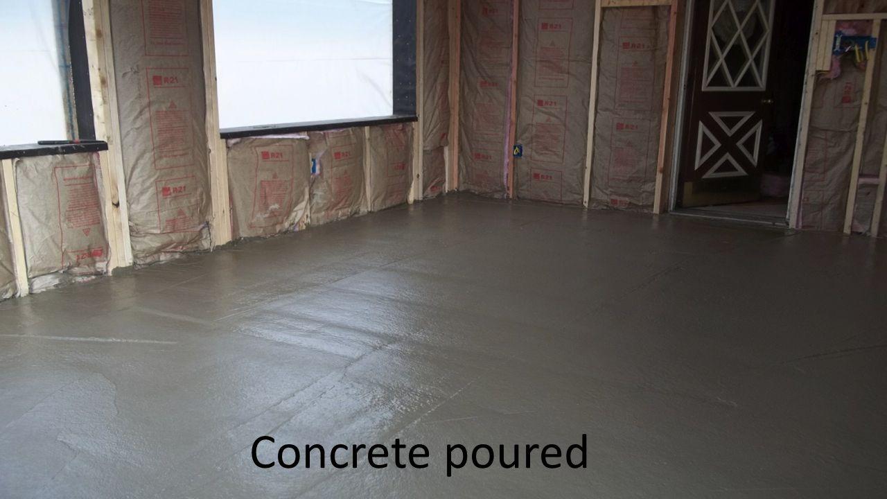 Concrete poured