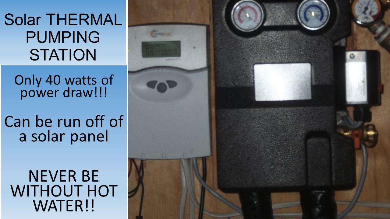 Solar THERMAL PUMPING STATION Only 40 watts of power draw!!.