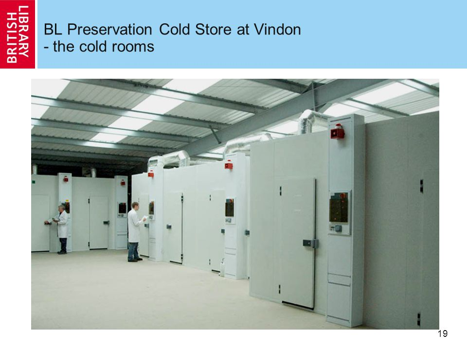 19 BL Preservation Cold Store at Vindon - the cold rooms