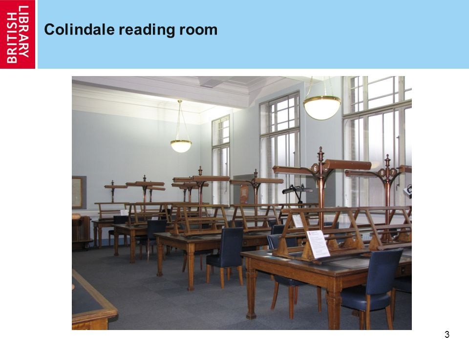 Colindale reading room 3