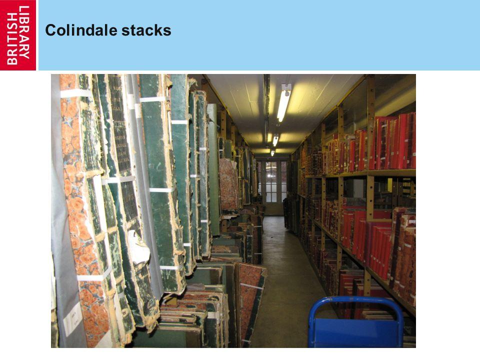 Colindale stacks