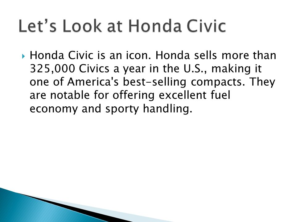  Honda Civic is an icon.