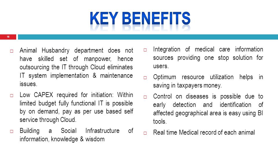 18  Integration of medical care information sources providing one stop solution for users.