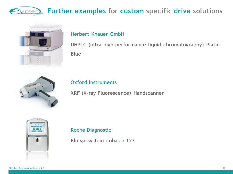 Elliptec Resonant Actuator AG17 Herbert Knauer GmbH UHPLC (ultra high performance liquid chromatography) Platin- Blue Further examples for custom spec