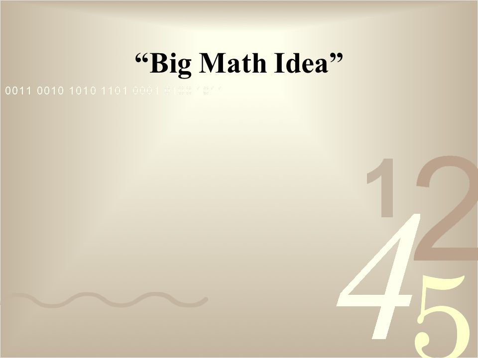 Big Math Idea