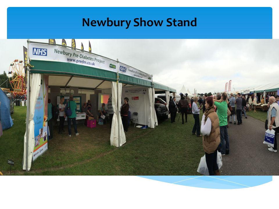 Newbury Show Pre- Diabetes Stand During a quiet spell! Newbury Show Stand