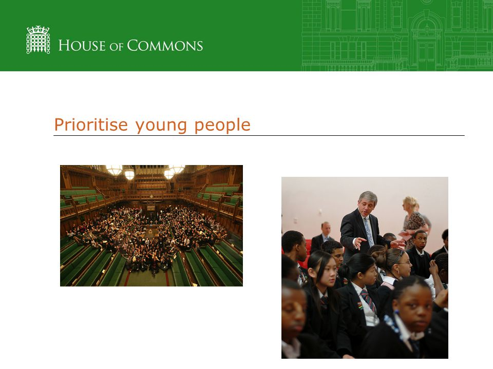 Prioritise young people