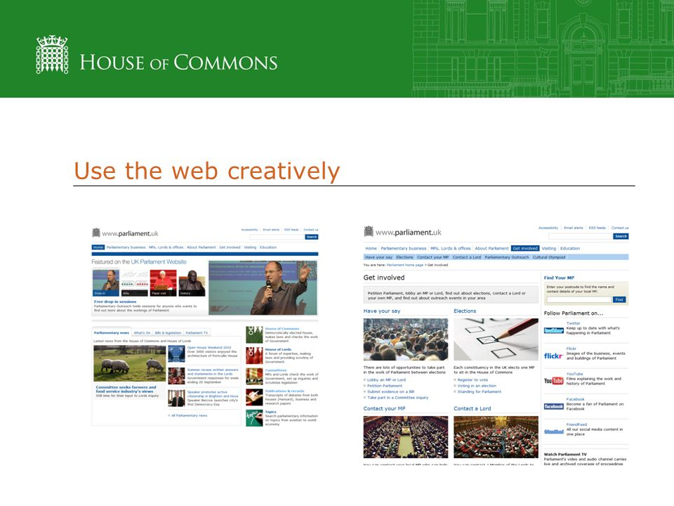 Use the web creatively