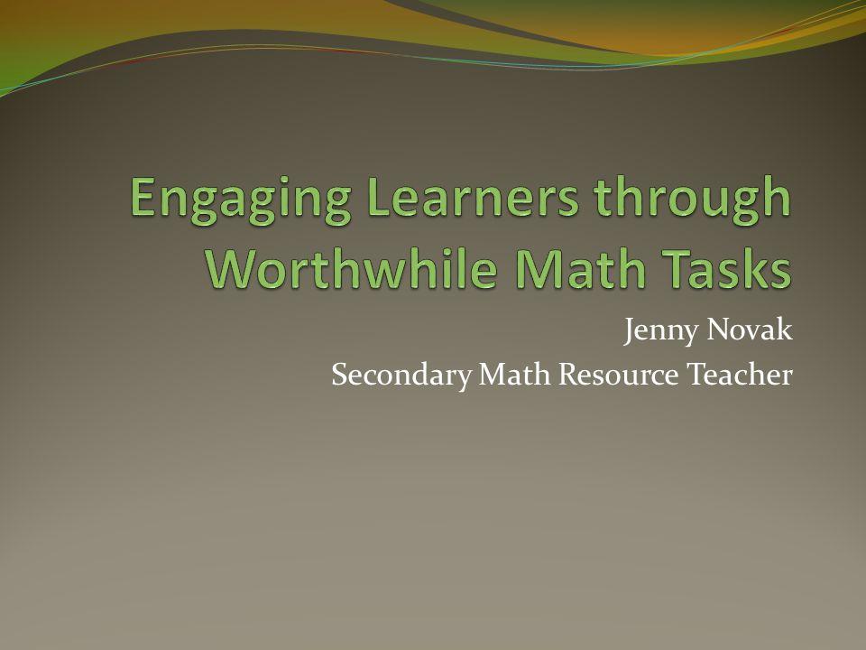 Jenny Novak Secondary Math Resource Teacher