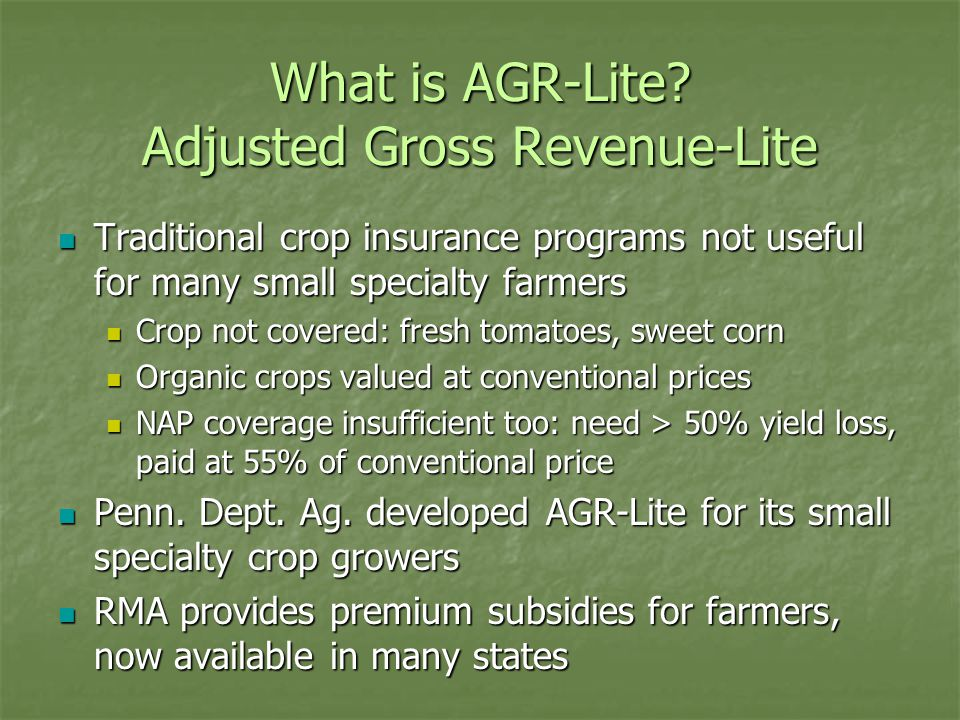 What is AGR-Lite.