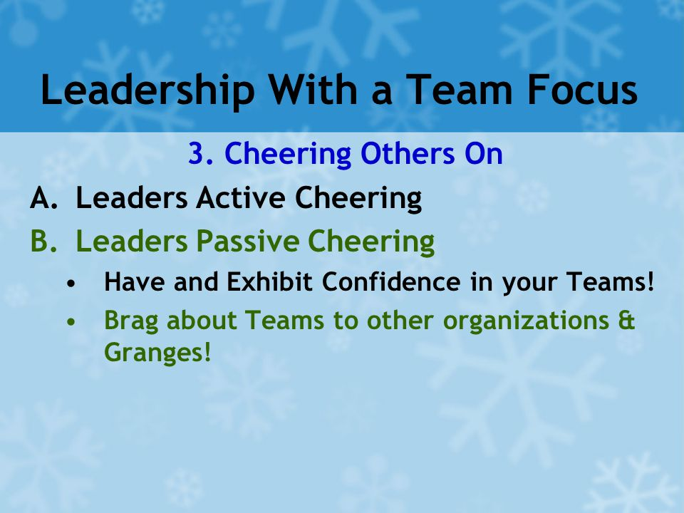 Leadership With a Team Focus 3.