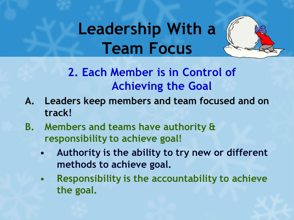Leadership With a Team Focus 2.