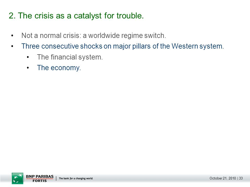 October 21, 2010 | 33 Not a normal crisis: a worldwide regime switch.