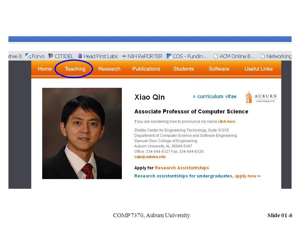 Slide 01-6COMP 7370, Auburn University
