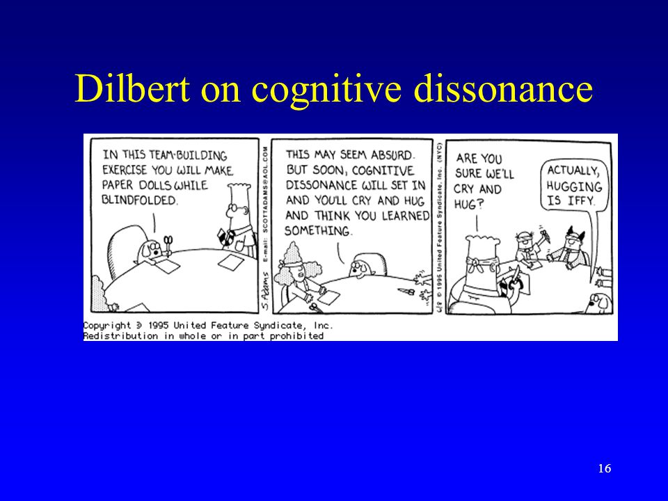 16 Dilbert on cognitive dissonance
