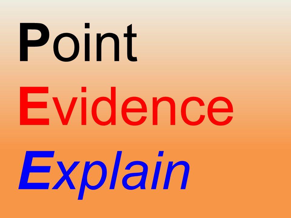 Point Evidence Explain